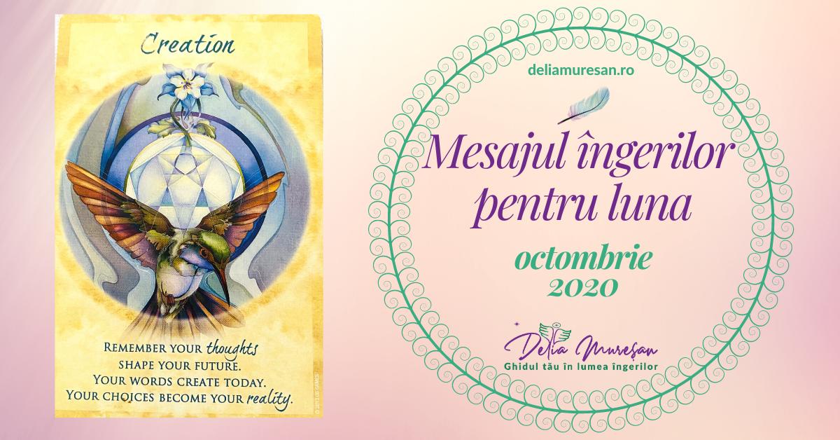 Mesajul îngerilor pentru luna OCTOMBRIE 2020