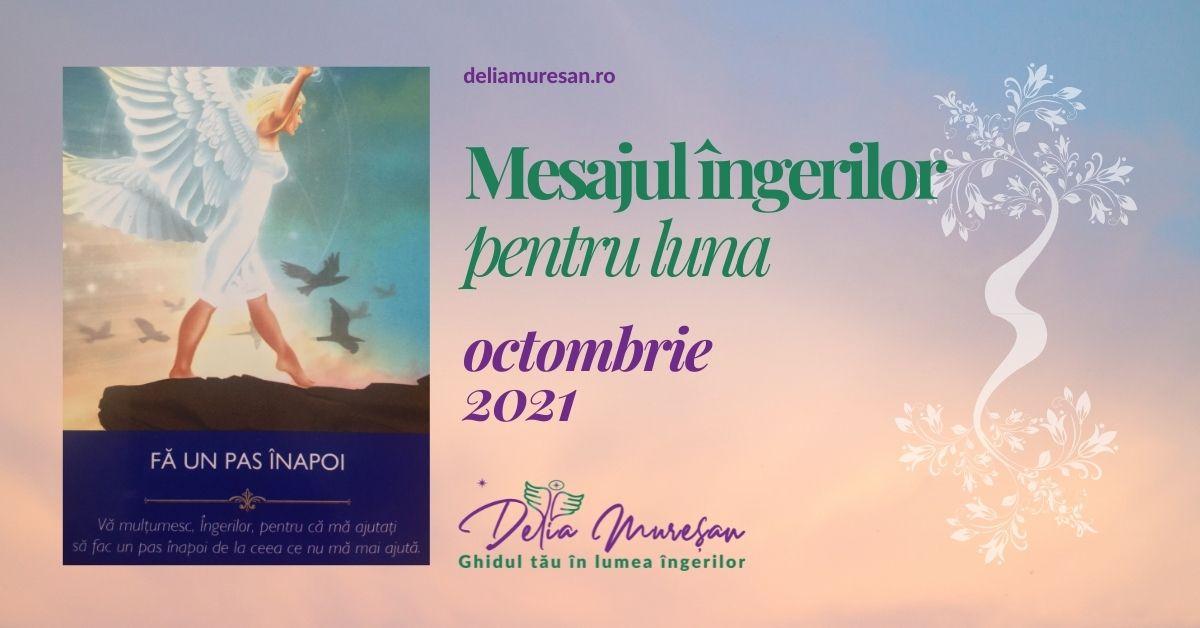 Mesajul îngerilor pentru luna OCTOMBRIE 2021